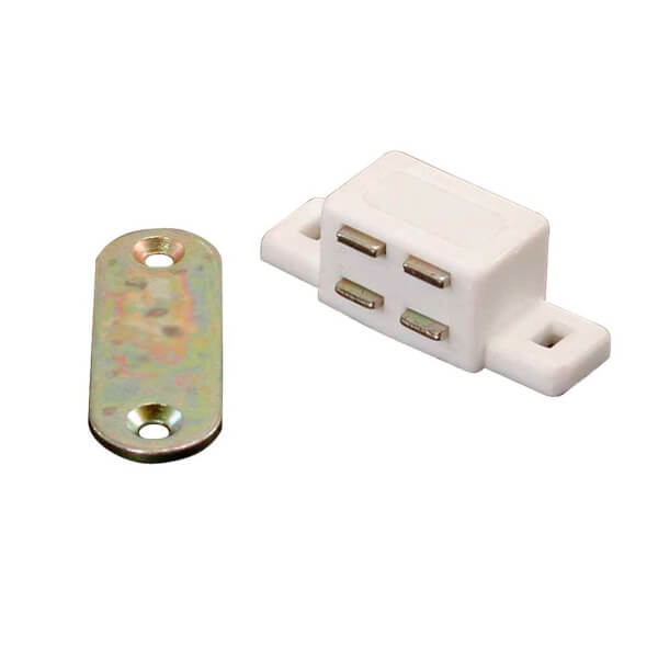 Magnetic Catch - White  - 45 x 17 x 14mm x 1