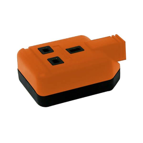 Masterplug 1 Socket Heavy Duty Rewirable Trailing Socket Orange