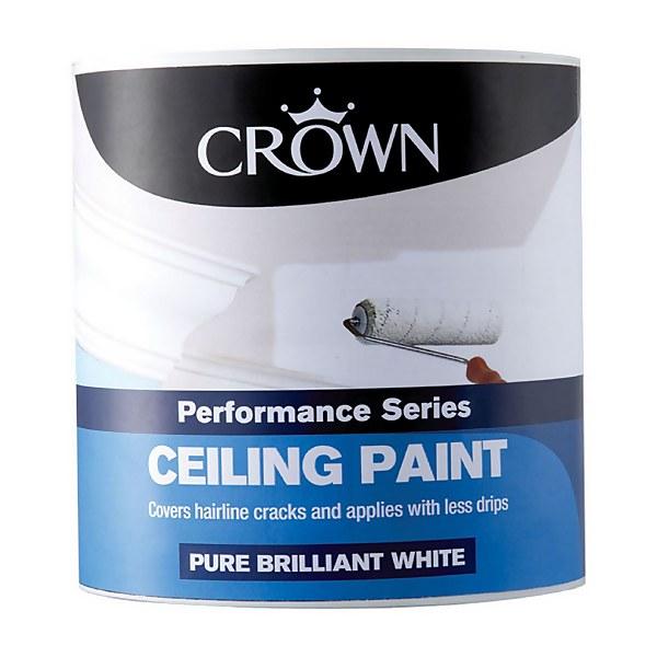 Crown Pure Brilliant White - Matt Ceiling Paint - 2.5L