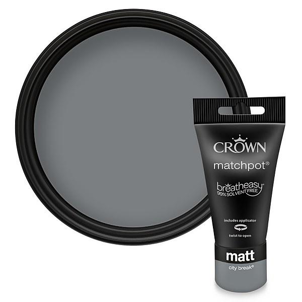 Crown Breatheasy City Break Standard - Emulsion Matt Paint - 40ml Tester