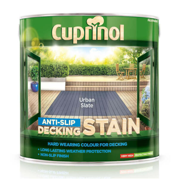 Cuprinol Anti Slip Decking Stain - Urban Slate - 2.5L
