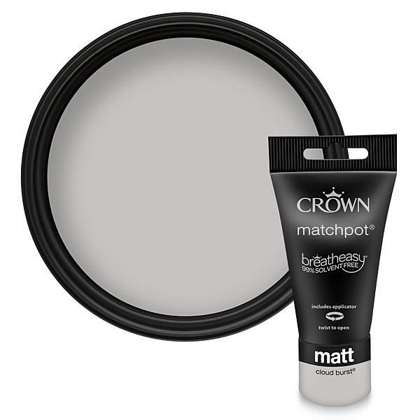 Crown Breatheasy Cloud Burst Standard - Emulsion Matt Paint - 40ml Tester