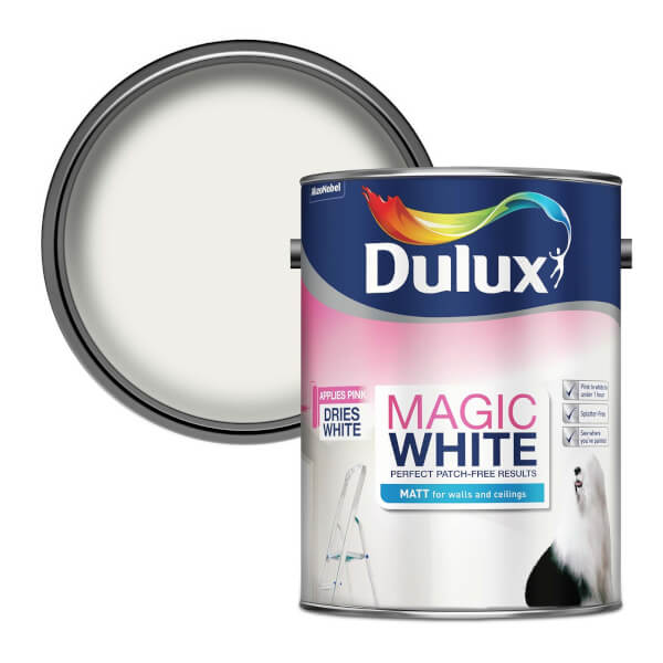 Dulux Pure Brilliant White - Magic Matt Emulsion Paint - 5L