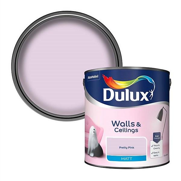 Dulux Pretty Pink - Matt Emulsion Paint - 2.5L