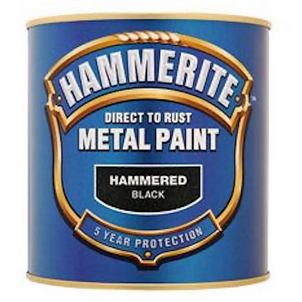 Hammerite Black - Hammered Exterior Metal Paint - 2.5L