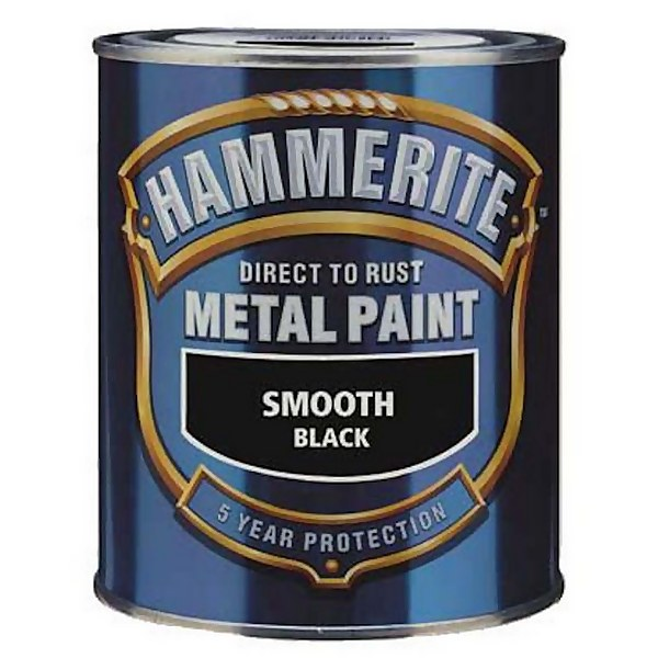 Hammerite Direct To Rust Metal Paint - Black - 2.5L