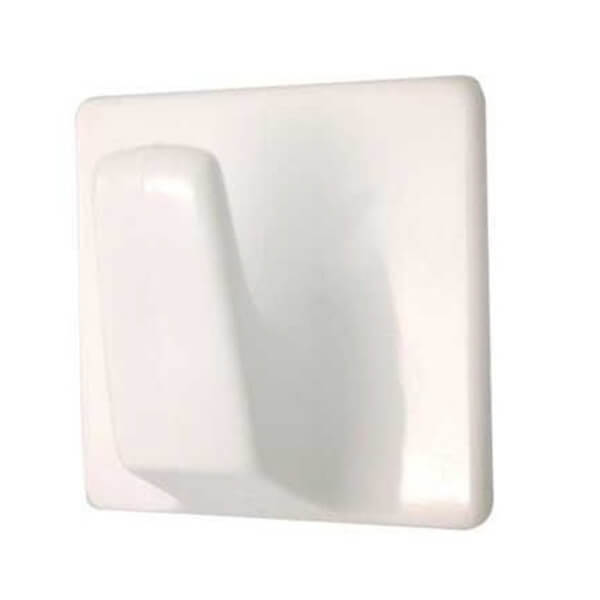 Large Square Self-adhesive Hook - White - 2 Pack
