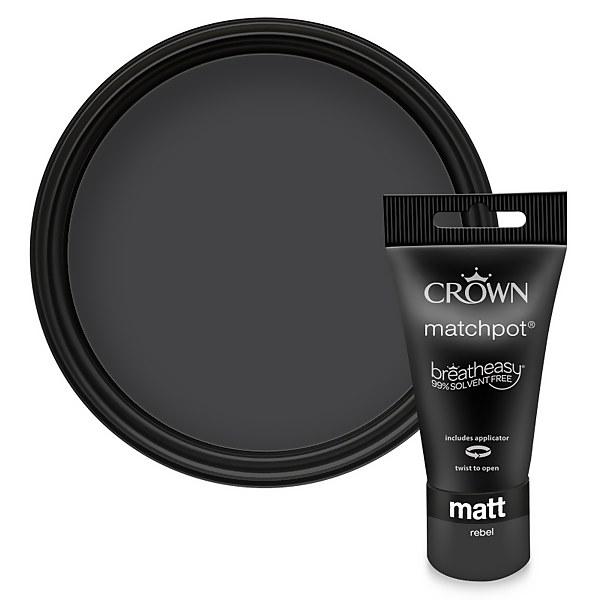 Crown Feature Wall Breatheasy Rebel - Matt Paint - 40ml Tester