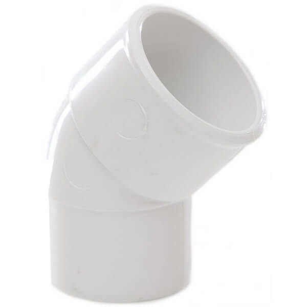 Polypipe Waste Solvent Weld Spigot Bend - 45 Degree - 40mm