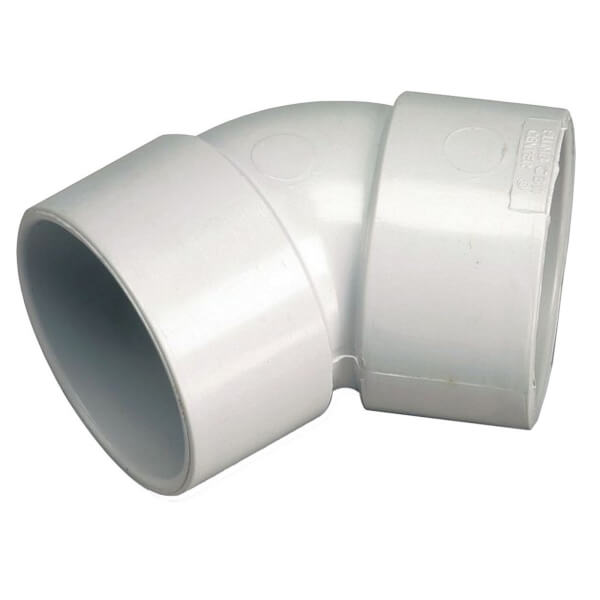Polypipe Waste Solvent Weld Obtuse Bend - 45 Degree - 40mm