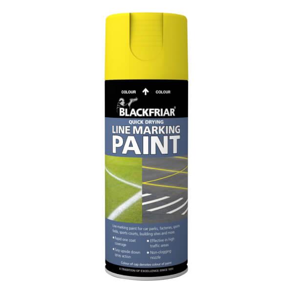Rust-Oleum Blackfriar Yellow - Line Marking Paint - 400ml