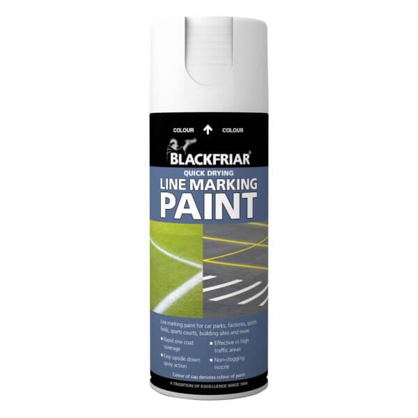 Rust-Oleum Blackfriar White - Line Marking Paint - 400ml