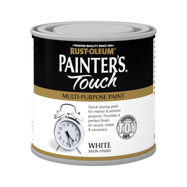 Rust-Oleum White - Satin Painters Touch - 250ml