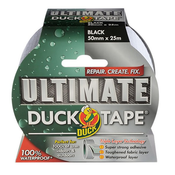 Duck Ultimate Tape Black - 50mm x 25m