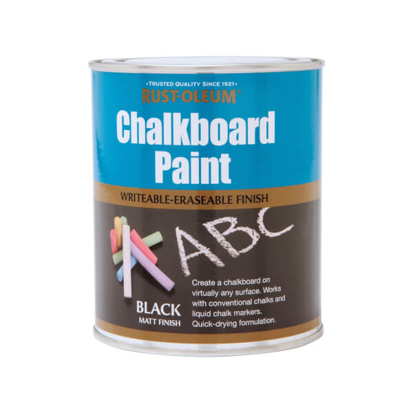 Rust-Oleum Black - Chalkboard Paint - 750ml