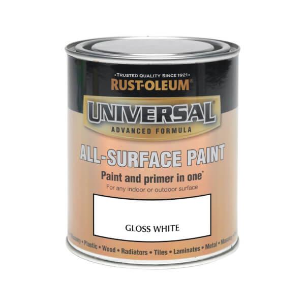 Rust-Oleum Universal All Surface Gloss Paint & Primer - White - 750ml