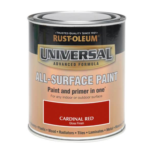 Rust-Oleum Universal All Surface Gloss Paint & Primer - Cardinal Red - 250ml