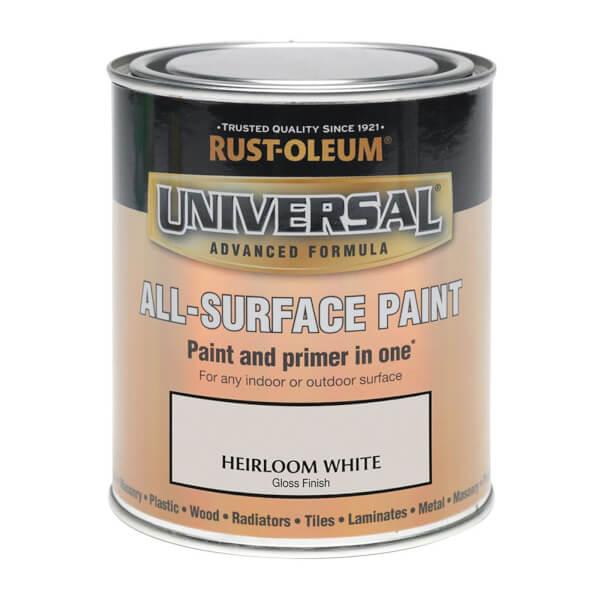 Rust-Oleum Universal All Surface Gloss Paint & Primer - Heirloom White - 250ml