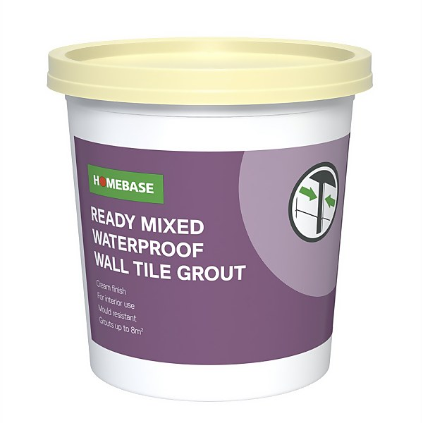 Homebase Ready Mixed Grout Cream - 1.6kg