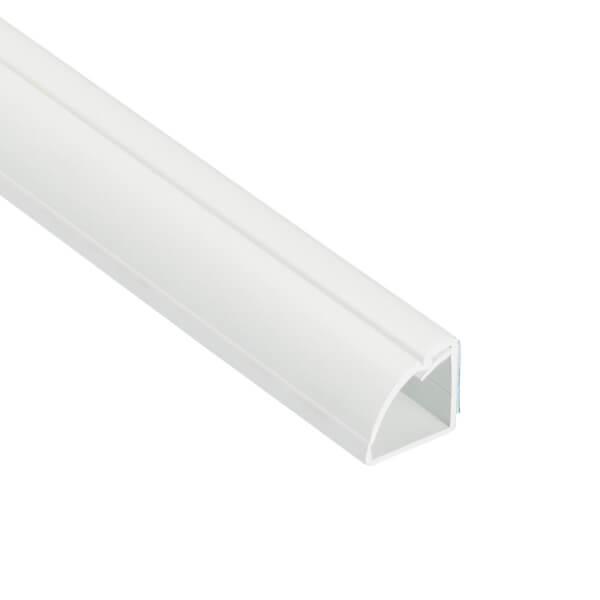 D-Line Quadrant Self Adhesive Decorative Trunking 22mm x 22mm x 2m White