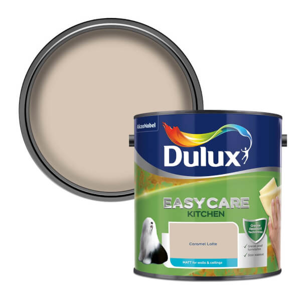 Dulux Easycare Kitchen Caramel Latte Matt Emulsion Paint - 2.5L