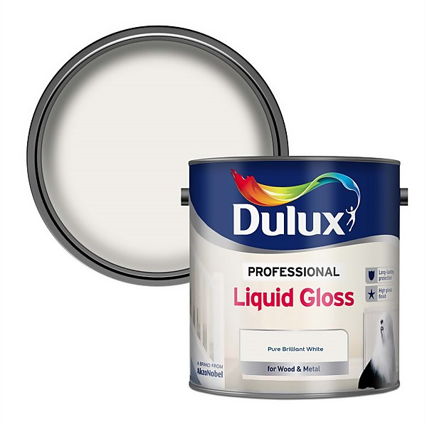 Dulux Pure Brilliant White - Liquid Gloss Paint - 2.5L