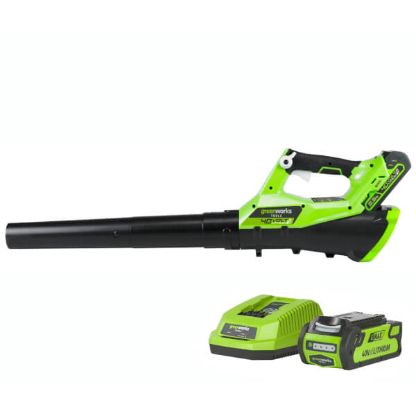 Greenworks G4ABK2 40V Cordless Axial Leaf Blower with 2Ah Battery and Charger