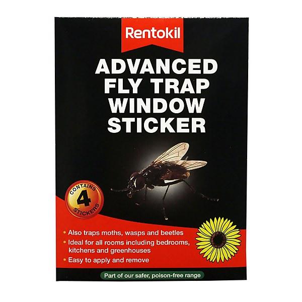 Rentokil Advanced Fly Trap Window Stickers (Pack of 4)