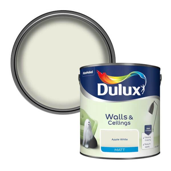 Dulux Apple White - Matt Emulsion Paint - 2.5L