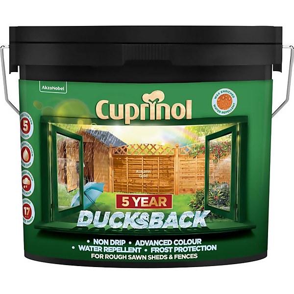 Cuprinol 5 Year Ducksback - Autumn Gold - 9L