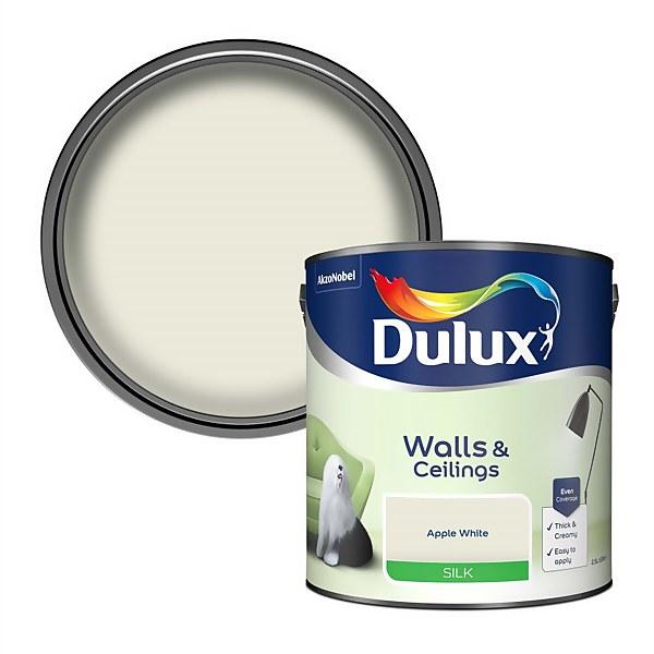 Dulux Apple White - Silk Emulsion Paint - 2.5L