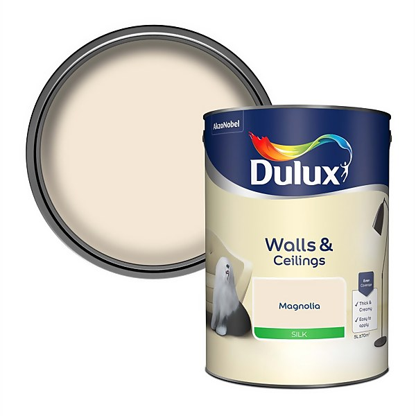 Dulux Magnolia - Silk Emulsion Paint - 5L