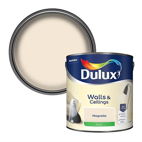 Dulux Magnolia - Silk Emulsion Paint - 2.5L