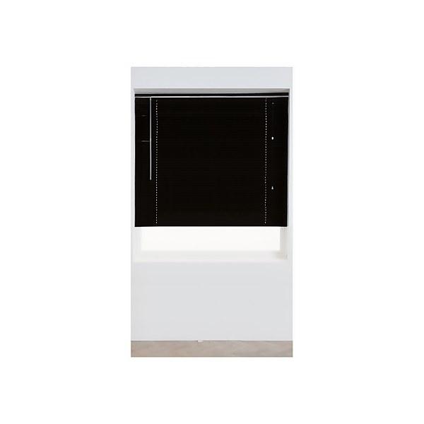 Black Aluminium 25mm Venetian Blind - 90cm