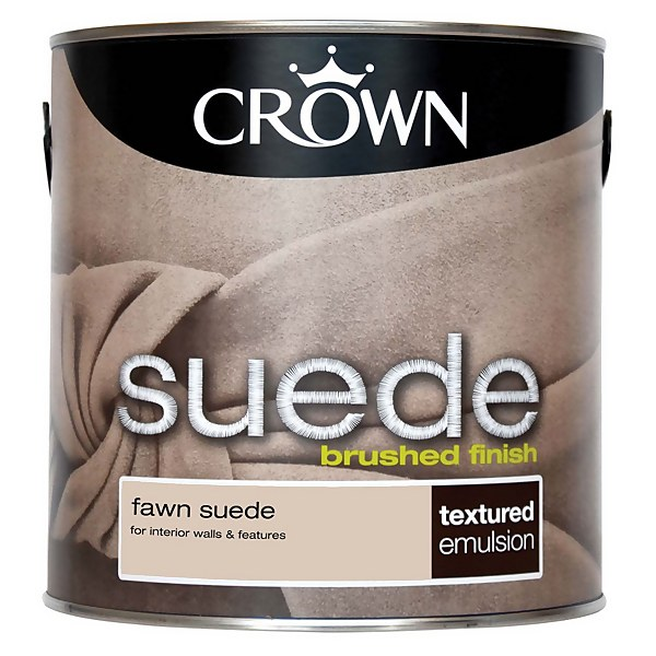 Crown Fashion For Walls Fawn - Suede Matt Emulsion Paint - 2.5L