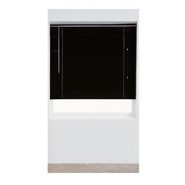 Black Aluminium 25mm Venetian Blind - 180cm