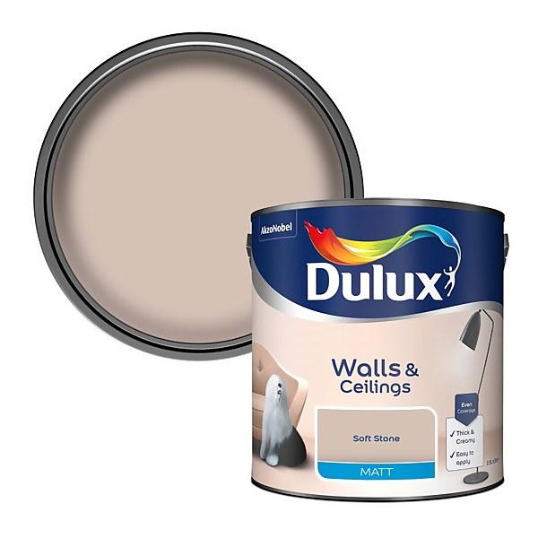 Dulux Soft Stone - Matt Emulsion Paint - 2.5L