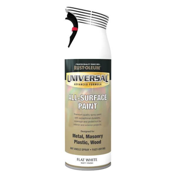 Rust-Oleum Universal Flat White Spray Paint - 400ml