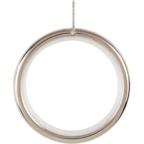 Satin Steel 28mm Curtain Rings 4 Pack