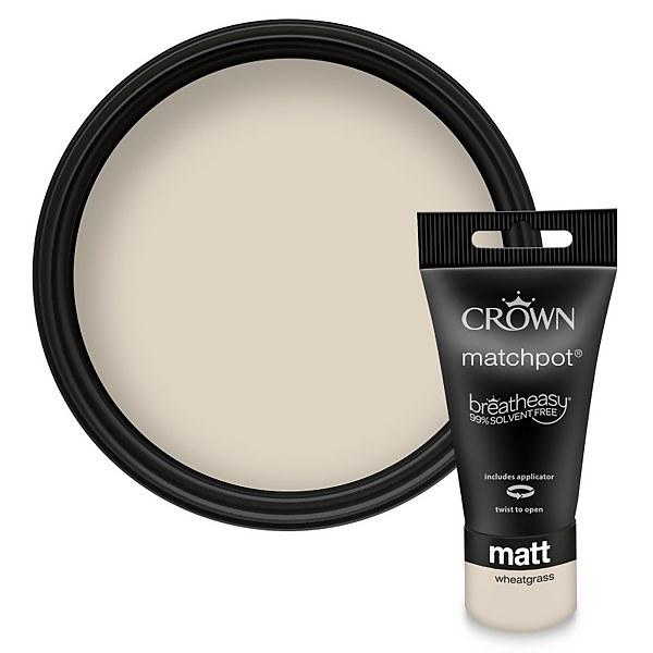 Crown Breatheasy Neutrals Wheatgrass - Matt Tester Paint - 40ml Tester