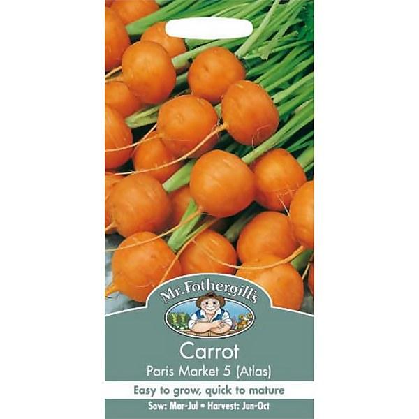 Carrot Paris Market 5 Atlas (Daucus Carota) Seeds