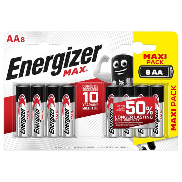 Energizer MAX Alkaline AA Batteries - 8 Pack