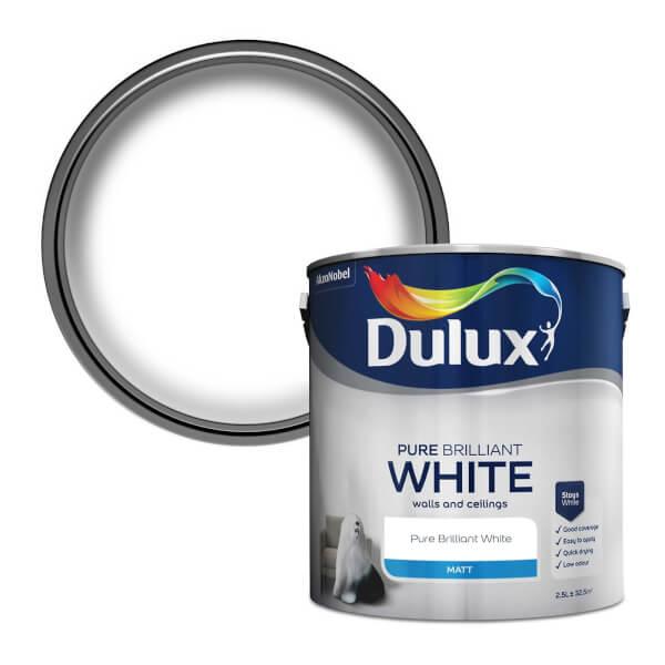 Dulux Pure Brilliant White - Matt Emulsion Paint - 2.5L