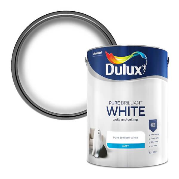 Dulux Pure Brilliant White - Matt Emulsion Paint - 5L