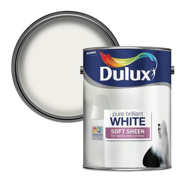 Dulux Pure Brilliant White - Soft Sheen Emulsion Paint - 5L