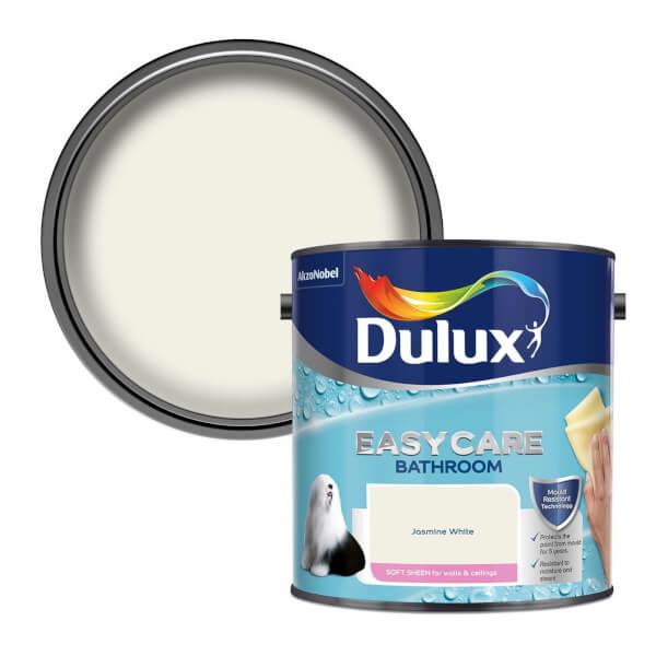 Dulux Easycare Bathroom Jasmine White - Soft Sheen Paint - 2.5L