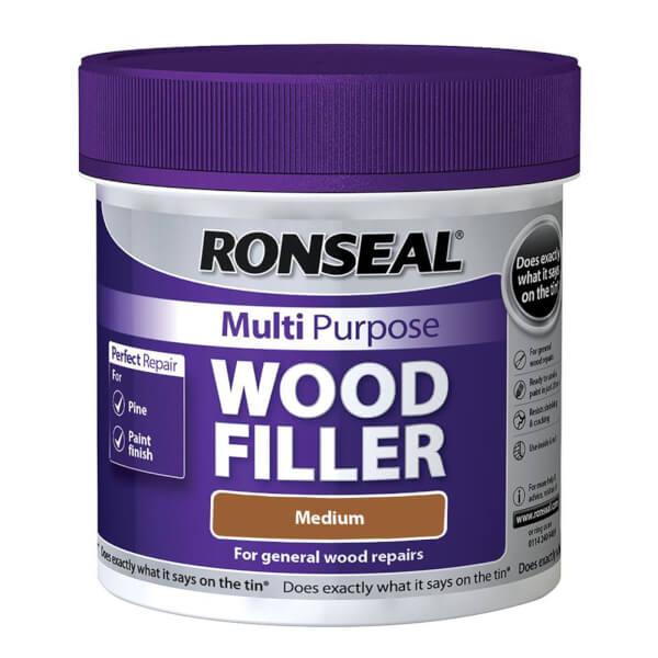 Ronseal Multipurpose Wood Filler Tub - Medium - 465g