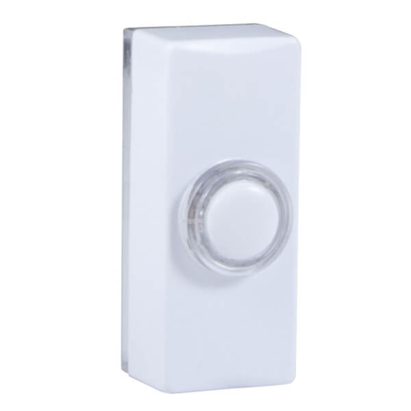 Wired 7730 Lighted Bell Push White
