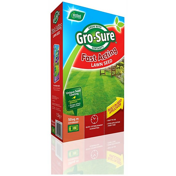 Gro-Sure Fast Acting Lawn Seed - 50m2