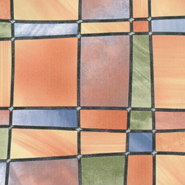 Fablon Sticky Back Plastic - Barcelona Multi-coloured - 675mm x 2m